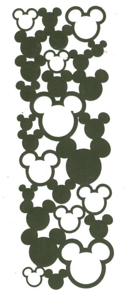 Disney MICKEY MOUSE Mesh Die Cut Embellishment
