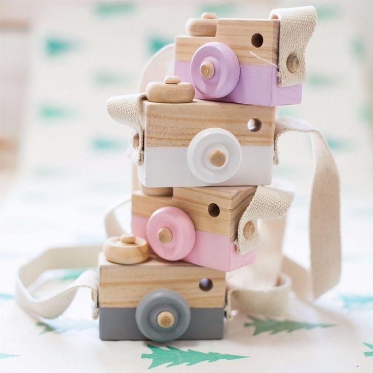 Krásné roztomilé Dřevěné hračky fotoaparát pro miminko Dětský pokoj Decor bytové textilie pro děti vánoční dárky k narozeninám Nordic evropský Style-in Rám z Dům a zahrada o Aliexpress.com | Alibaba Group