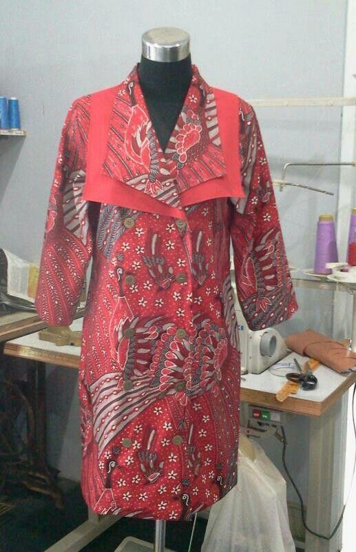 dress for my client, batik tulis merak ngibing
