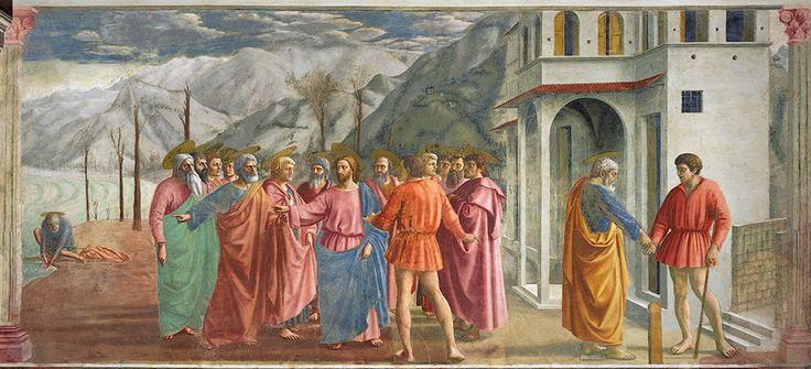 TOMMASO MASACCIO (1401-1428) Grosz czynszowy, fresk, 1425, kaplica Brancacci