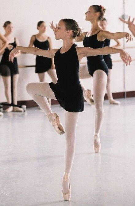 A beautiful, young ballerina.