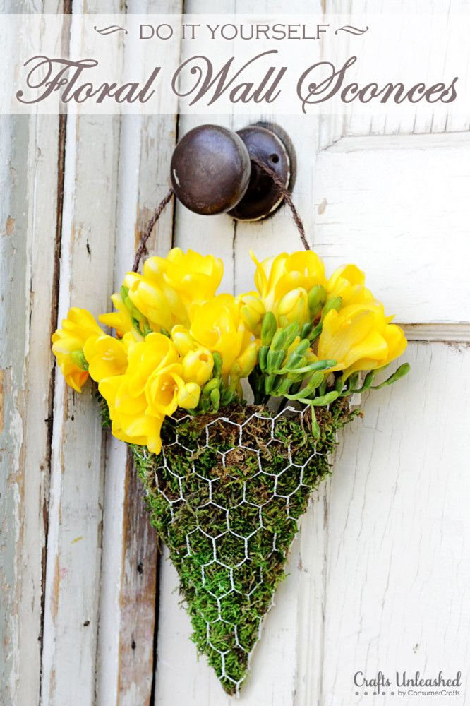 Make your own Floral Wall Sconces - Perfect for May Day!