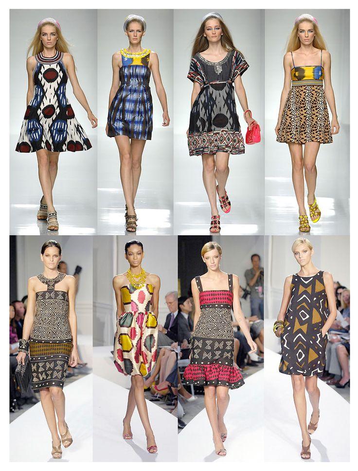 Gucci and De La Renta with Ikat & batik