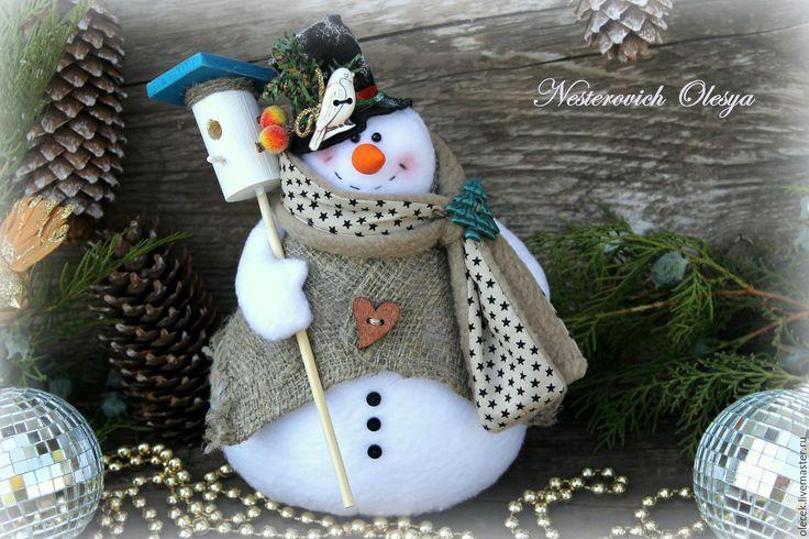 Купить Снеговик новогодний!!! - новогодний снеговик, снеговик, снеговики, тильда…