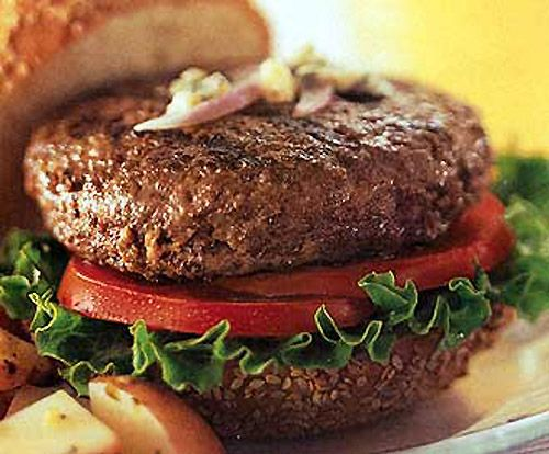 Bison Burger Recipe: With less fat and more protein than beef, bison is a great burger option. Try these juicy, flavourful homemade patties next time you barbeque.