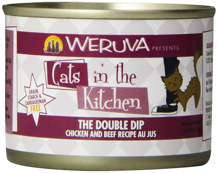 Weruva Cats in the Kitchen The Double Dip Cat Food Chicken and Beef recipe (6 oz (24 can case)) ** Additional info  : Best Cat Food