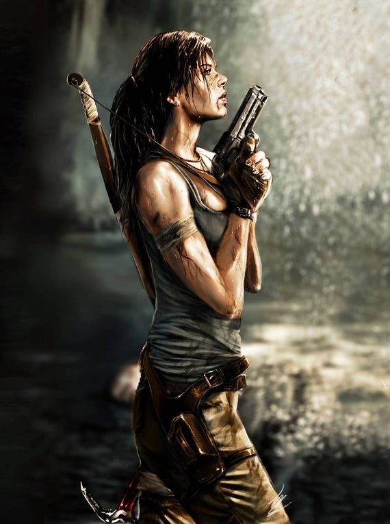 Lara Croft Reborn Print Large Etsy In 2020 Tomb Raider Lara
