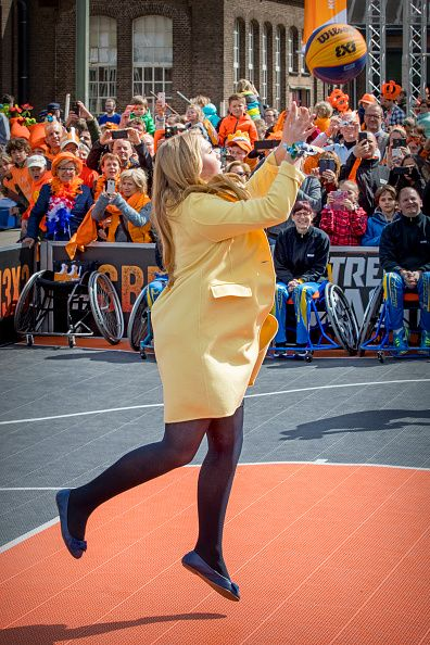 Crown Princess Amalia attends the King's 50th birthday during the Kingsday celebrations on April 27, 2017 in Tilburg, Netherlands.