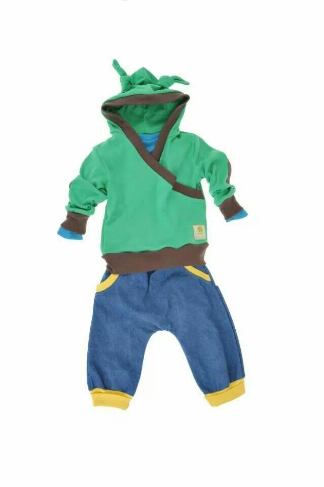 Baby hoody and denim trouser. www.imminkkids.com