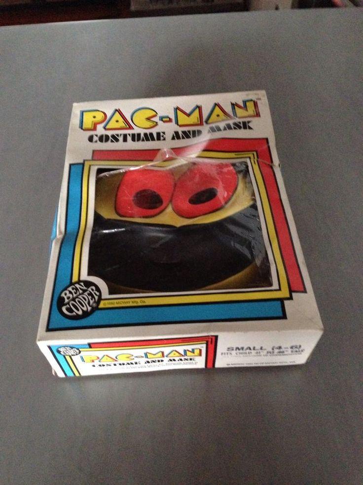 Vintage Original Ben Cooper Pacman Costume Mask In
