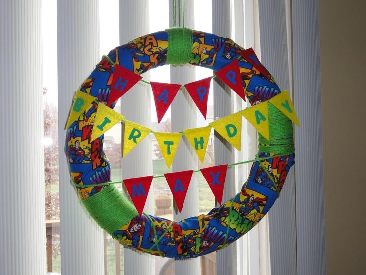 Superhero Birthday Wreath