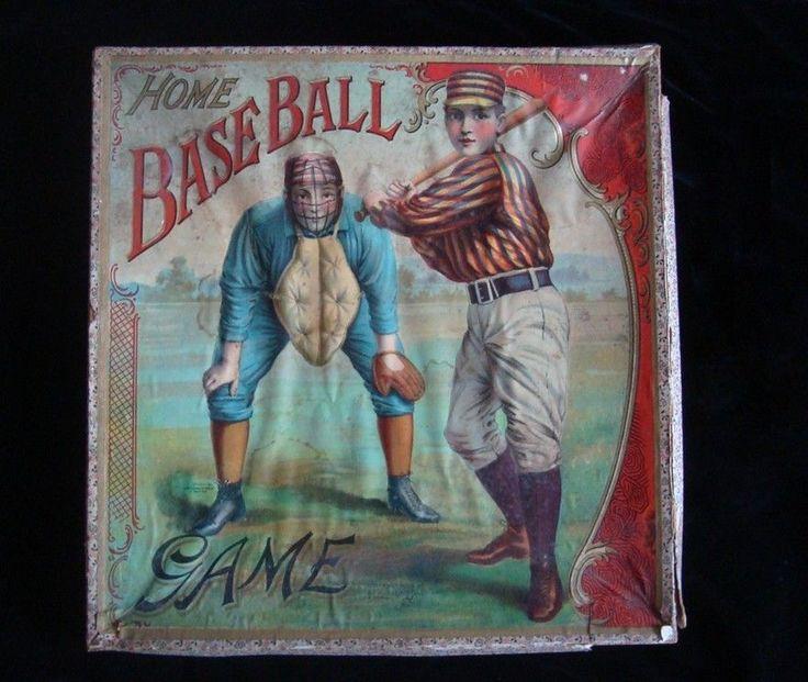 Home Baseball Game, McLoughlin Brothers, 1900. Antique Baseball Game