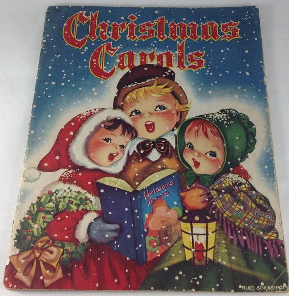 Christmas Carols Vintage 1940's Alice by papermoonandmore on Etsy