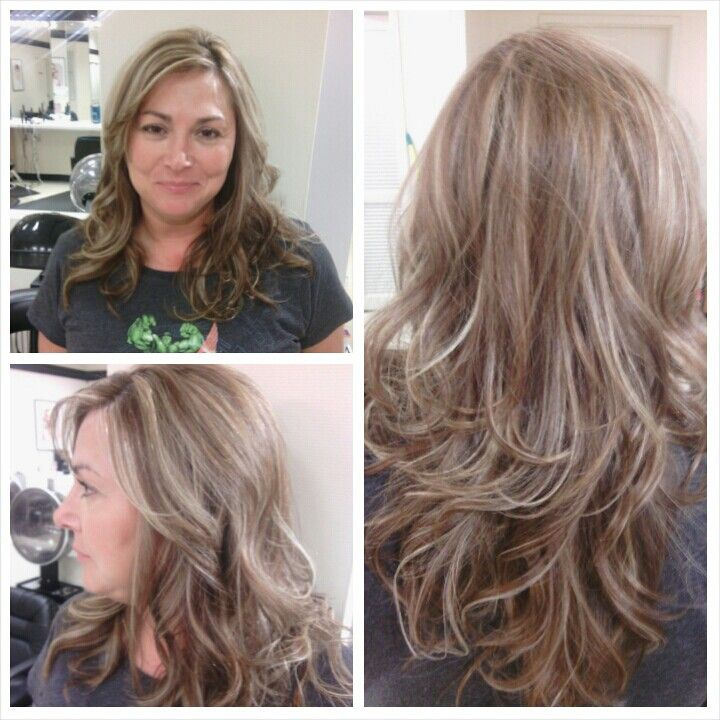 Level Six Warm Mocha With Platinum Highlightsmatrix Color Toned With Pm Shi