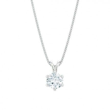 1791 Classic Round Brilliant Diamond Necklace in 18kt White Gold