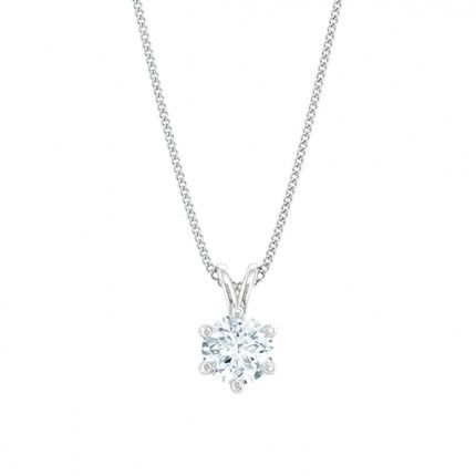 1791 Classic Round Brilliant Diamond Necklace in 18kt White Gold