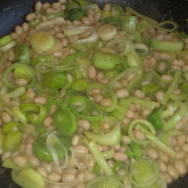 Leek and Bean Side Dish