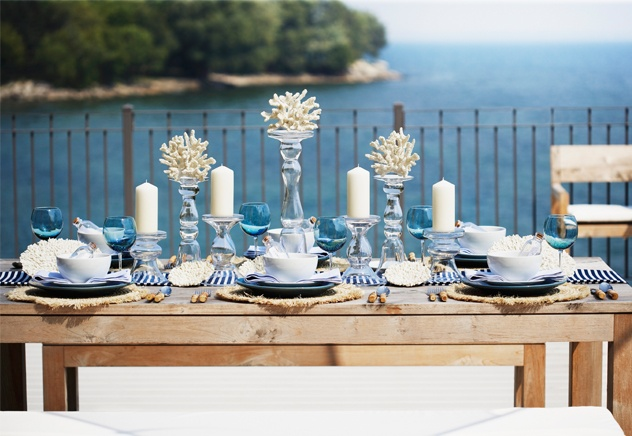 ... Nautical Table Decor By Entertaining Outdoors Nautical Table Decor  Outdoor ...