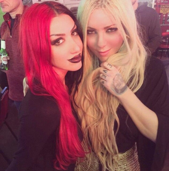 ash costello and maria brink in 2019 ashley costello women of rock metal girl. Black Bedroom Furniture Sets. Home Design Ideas