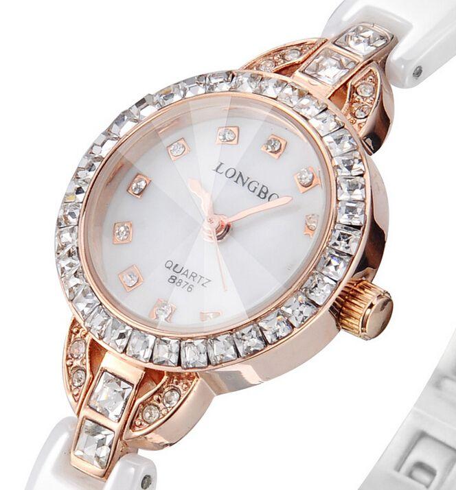 Роскошные женщины керамические водостойкой часы спортивные женские наручные часы, Бесплатная доставка Высокое качество керамические горный хрусталь женщины часы