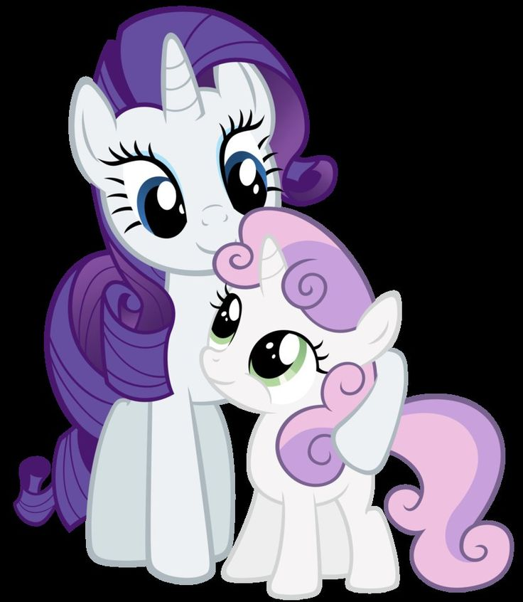 Rarity and Sweetie Belle being cute by ~Stabzor on deviantART