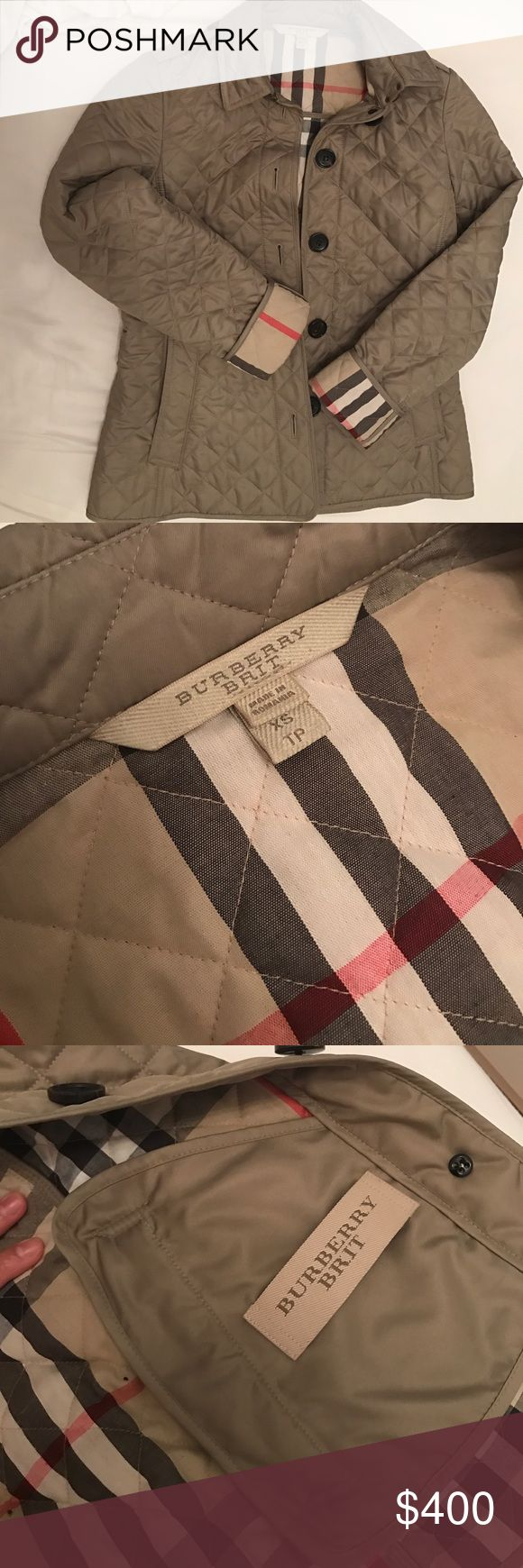 Burberry quilted jacket Burberry Ashurst Quilted Jacket is the perfect jacket for spring and fall. Jacket is still in mint condition as I only wore it a few times. Also fits perfectly on small petite women as I myself is petite. Burberry Jackets & Coats