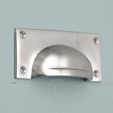 Satin Nickel Hooded Drawer Pull