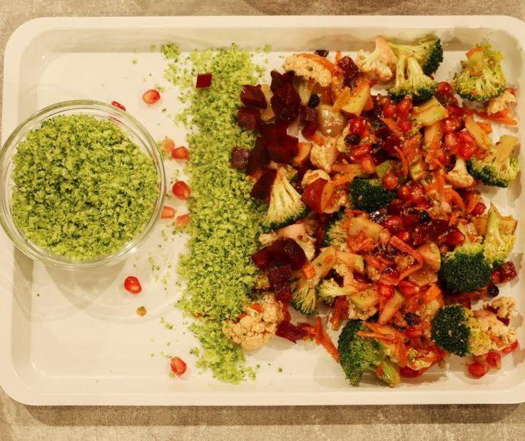 Σαλάτα ενέργειας με γλυκόξινο dressing (Boost salad)