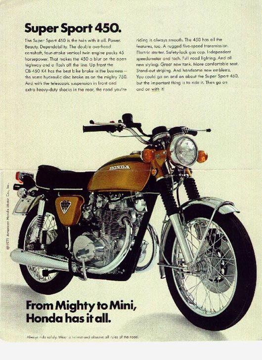 Honda CB 450 MotorcyclesVintage