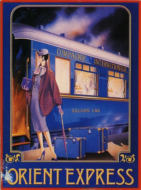 The Orient Express _________________________ #Vintage #Travel #Poster