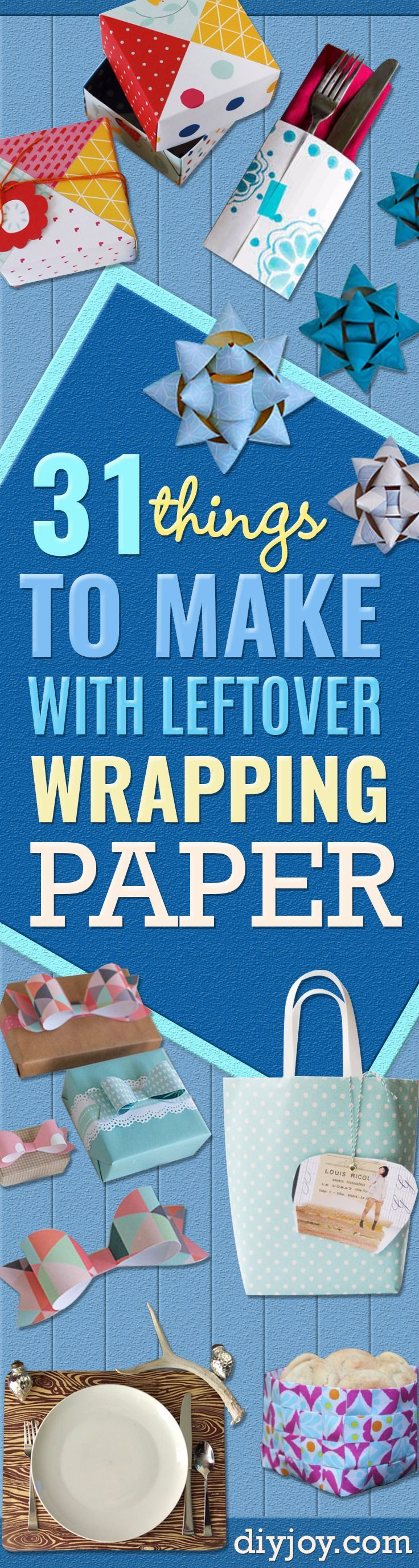 The pin junkie how to make paper bluebonnets - 31 Things To Make With Leftover Wrapping Paper