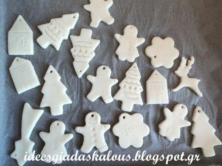 cornstarch and baking soda dough christmas ornaments