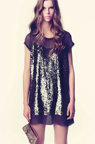 There's nothing I like more than a shift dress, except a shift with sequins.