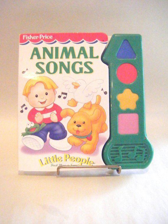 Vintage Animal Songs Little People Play A Long Book Preschool Etsy Little People Vintage Toys Long Books