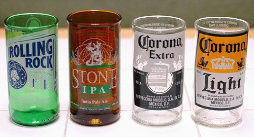 How to turn beer bottles into cups! I don't drink beer, but it would be cool to do anyways :)