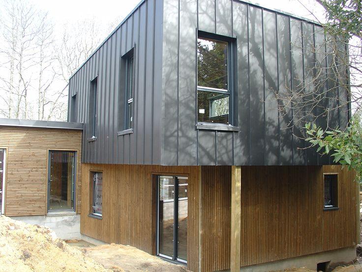 maison ossature bois bardage zinc obtenez des id es de design int ressantes en. Black Bedroom Furniture Sets. Home Design Ideas