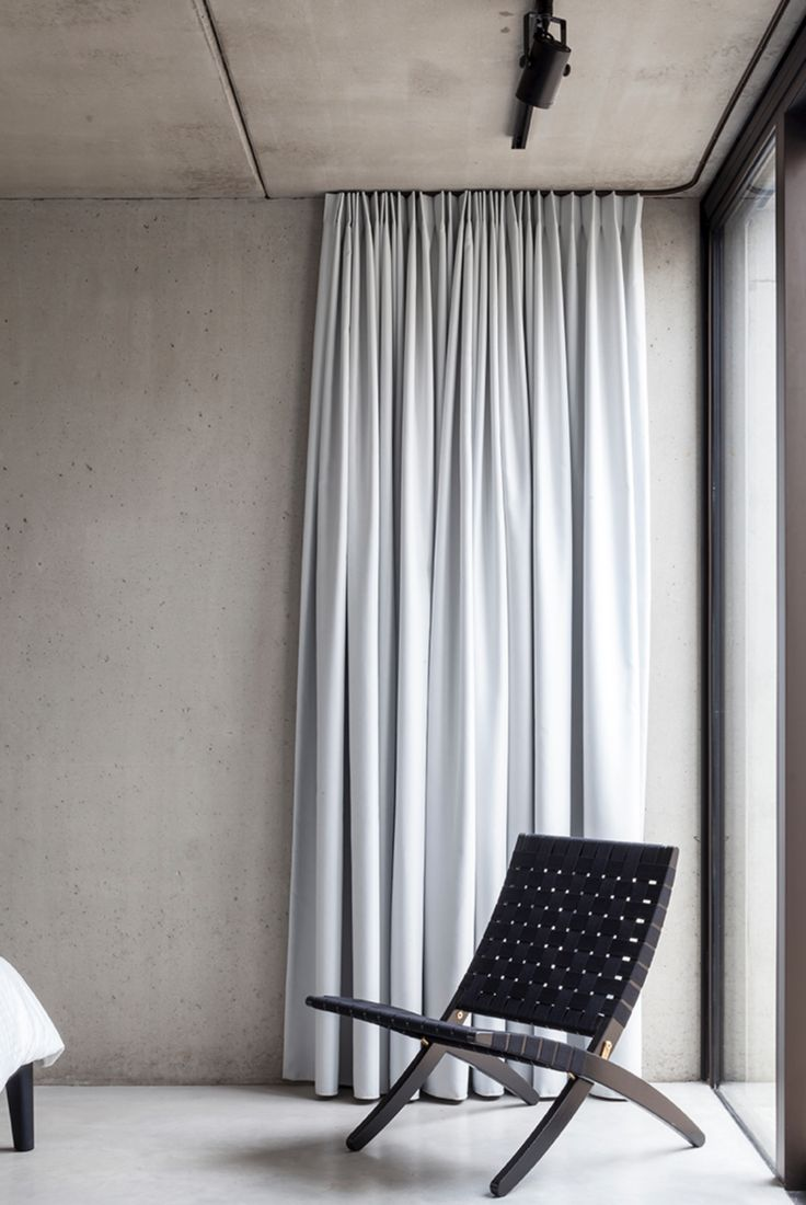 295 best minimalist curtains images on pinterest for Curtains floor to ceiling windows