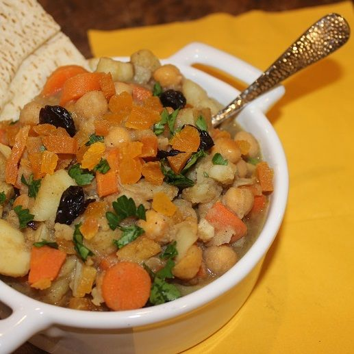 Moroccan Chickpea and Root Vegetable Stew. Find this and other vegetarian and stew recipes from food artisans around the world at our website, Yum Goggle