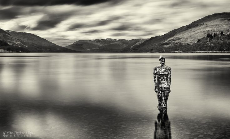 """https://flic.kr/p/FLvhEF   Still   """"Still"""" is the name of the sculpture by Rob Mulholland which sits within the water of Loch Earn at St Fillans."""
