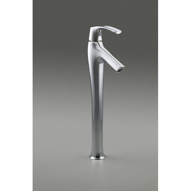 Kohler K-19909-4-CP Polished Chrome (Grey) Symbol Tower Single-Control Lavatory Faucet