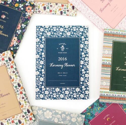 Старинные цветочным узором 2016 гармония планировщик ежемесячно план 18 * 25.5 см красочные листы 64 страниц милый подарок розничная купить на AliExpress