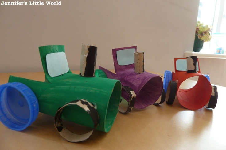 Jennifer's Little World: Craft - make a simple toilet roll tube tractor