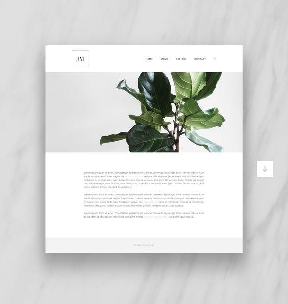 Complete Website Theme by Ruben Stom on @creativemarket. Price $19 #minimalistwebsitetheme #startupbusinesswebsitetheme #smallbusinesswebsitetheme
