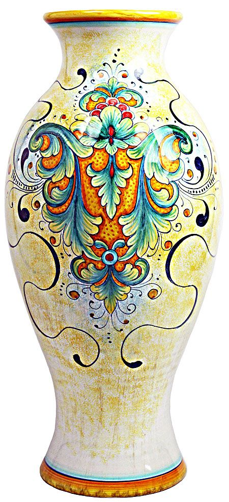 Gorgeous #Deruta #Italian Ceramic Vase - perfect for your sweetheart's #Valentinesday bouquet! #gift