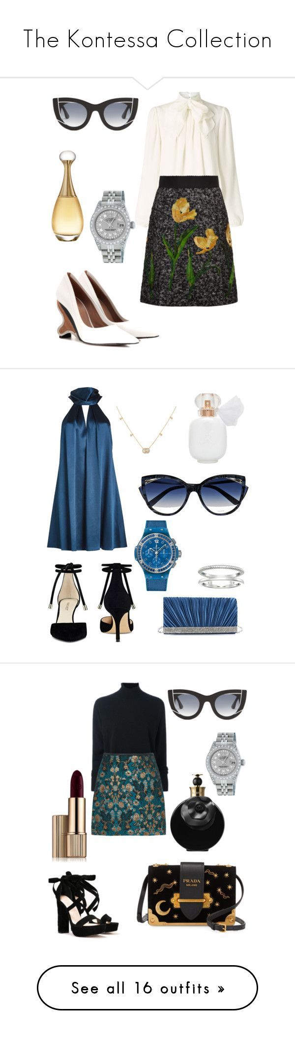 The Kontessa Collection by missnaia on Polyvore featuring polyvore, fashion, style, Somerset by Alice Temperley, Dolce&Gabbana, Marni, Rolex, Thierry Lasry, Christian Dior, clothing, Galvan, Gunne Sax By Jessica McClintock, Shinola, Nine West, Hublot, La Perla, Gucci, Le Kasha, Nasty Gal, Prada, Valentino, Estée Lauder, STELLA McCARTNEY, Yves Saint Laurent, Bobbi Brown Cosmetics, Urban Decay, Terry de Gunzburg, Isa Arfen, Loeffler Randall, Cynthia Rowley, Kakao By K, Miss Selfridge, Edie…