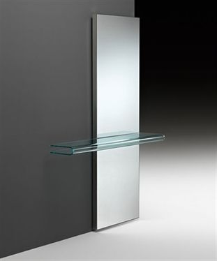 U0027Let Me Seeu0027 Mirror Console In 8 Mm Thick Curved Glass. Frame In Glazed  Stainless Steel.