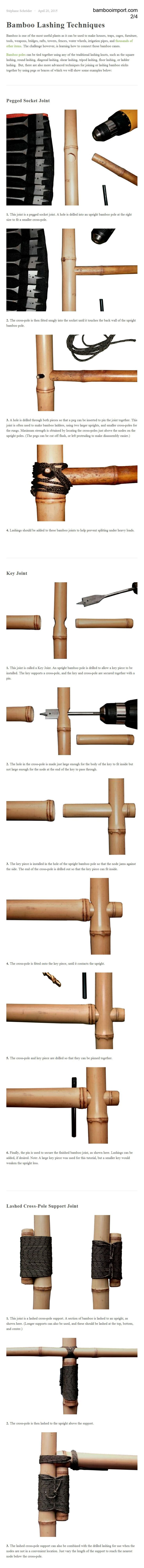 Bamboo Lashing Techniques (2/4)