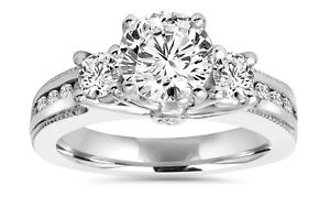 Groupon - 2.20 CTTW 3-Stone Vintage-Style Diamond Ring in 14K White Gold by Bliss Diamond in [missing {{location}} value]. Groupon deal price: $3,299.99