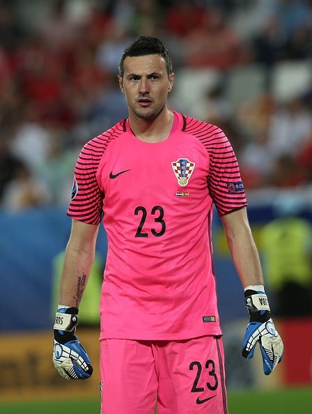 #EURO2016 Danijel Subasic of C in action during the UEFA EURO 2016 Group D match between Croatia and Spain at Stade de Bordeaux in Bordeaux France on June 21...