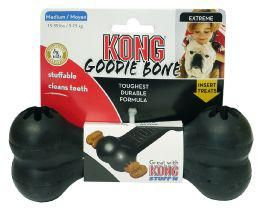 Kong Extreme Goodie Bone Black   The Extreme Goodie Bone Can Be Stuffed With Kong Stuff'n;Paste And Snaps Or Your Dog's Favourite Treat. Great For Keeping Dogs Occupied.